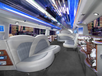 Picture of the inside of a party bus