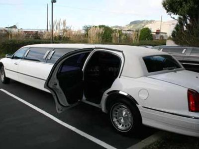 A picture of one of our chauffers driving clients to an event in Eola