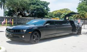 A photo of our chauffer picking passangers up in a black charger at Brunch Cafe in Fox River Grove, IL